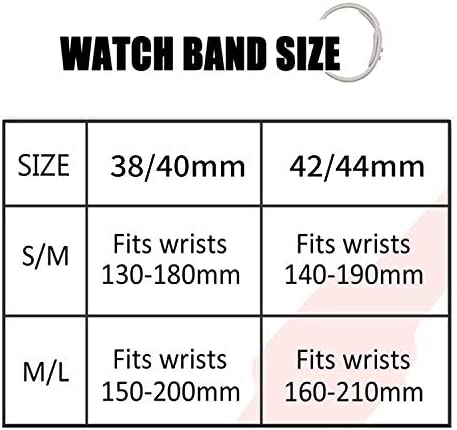 IYOU Sport Watch Band Compatible with Watch 38MM 42MM 40MM 44MM Soft Silicone Replacement Sport