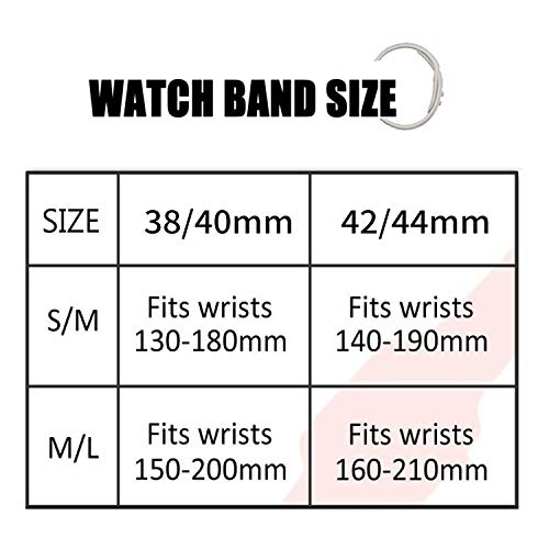 IYOU Sport Band Compatible with Watch Band 38MM 42MM 40MM 44MM, Soft Silicone Replacement Sport Strap Compatible with 2018 Watch Series 5/4/3/2/1(Black,42MM, M/L)