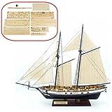 HAPYLY 1/130 Scale DIY Hobby Wooden Ship Science Equipmen Assembly Model Boat Kits Sailing Boat Kit Decor Toy Gift