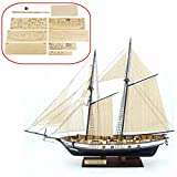 model boats kits to build wood - HAPYLY 1/130 Scale DIY Hobby Wooden Ship Science Equipmen Assembly Model Boat Kits Sailing Boat Kit Decor Toy Gift