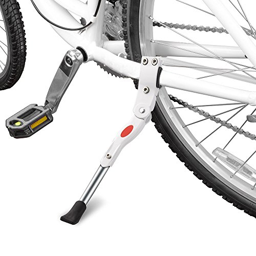 Yakamoz Bicycle Kickstand, Bike Aluminium Alloy Adjustable Side Kick Stand Rear Mount Stand for 22
