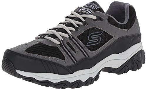 Skechers Sport Men's Afterburn Strike Memory Foam Lace-Up Sneaker,Charcoal/Black,12 M US