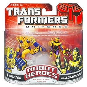 Transformers Universe: Robot Heroes Cheetor & Blackarachnia Action Figure 2-Pack