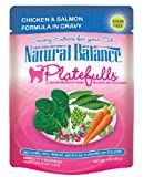 Natural Balance 3-Ounce Platefulls Chicken and Salmon Formula in Gravy Entree for Cats, Pack of 24, My Pet Supplies