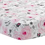 Bedtime-Originals-Blossom-PinkGray-Watercolor-Floral-Baby-Fitted-Crib-Sheet