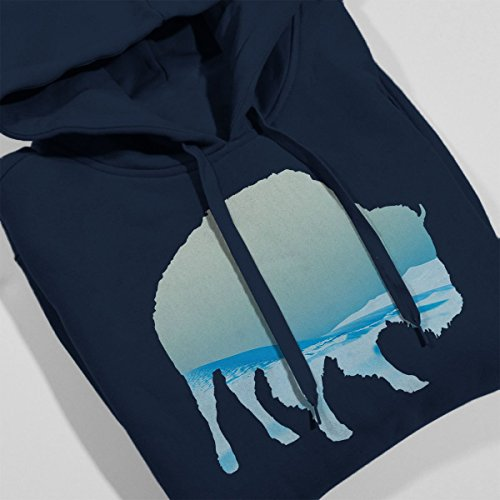 Desert Outline Blue Sweatshirt Women's Buffalo Hooded Coto7 Navy wqOEg