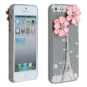 Amazon.com: luxury 3D Bling Diamond Pink Flower Eiffel