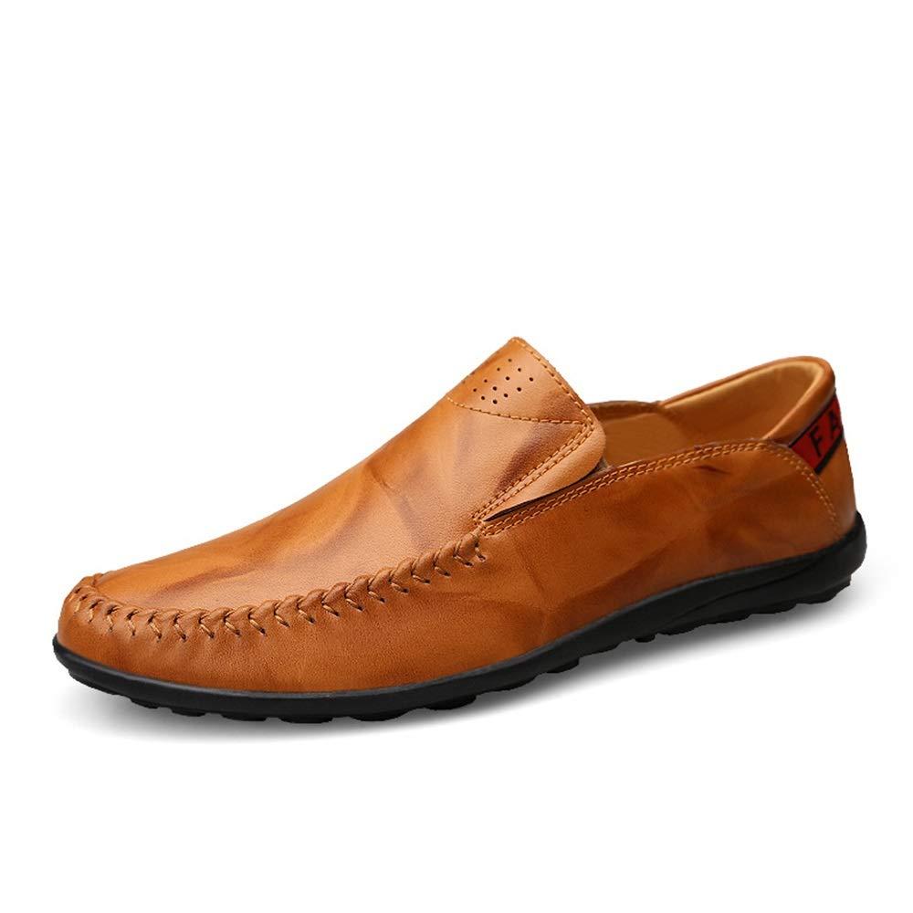 Gulbspringaaaa Penny Loafers Loafers Loafers ljus -Weight Slip -on Round Toe Loafers Soft läder Upper Lined Drive Dress skor Durable Breakble Cricket skor  bra pris