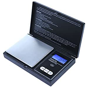 "GHP 5 PCS 3""x5""x0.75"" Black 200g X 0.01g Digital Portable Precision Pocket Scale"