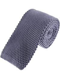 Solid Skinny Knit Tie