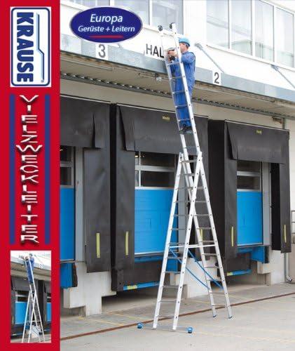 Krause - Escalera de usos múltiples (aluminio), en tres partes, altura de trabajo de 7,1 m, 2,7 m de longitud en una sola pieza, dreit. 6,05 m 16,8 kg: Amazon.es: Bricolaje y herramientas