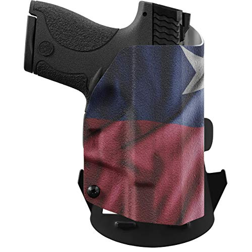 We The People - OWB Holster Compatible with Taser Pulse Gun - Outside Waistband Concealed Carry Kydex Holster (Right Hand, Texas Flag)