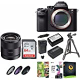 Sony Alpha a7RII Mirrorless Digital Camera (Body) +Sony 24mm f/1.8 ZA E-Mount Sonnar Lens + 64GB SDXC Card +Wasabi NP-FW50 Battery&Charger +49mm CPL/ND/UV Filters +Corel Suite +Accessory Bundle