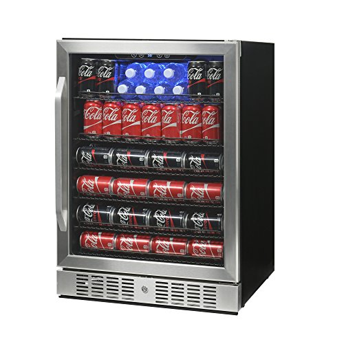 Beverage Center Solid Door (NewAir Built-In Beverage Cooler and Refrigerator, Stainless Steel Mini Fridge with Glass Door,  177 Can Capacity, ABR-1770)