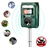 Ultrasonic Pest Repeller,Wikoo Solar Powered Waterproof Outdoor Animal Repeller with Ultrasonic Sound