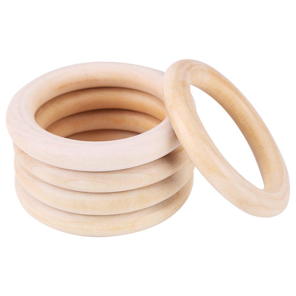 Zerodis Baby Beißringe Natural Wood Teether Zahnen Ringe für Babys Kinderpflege 10pcs