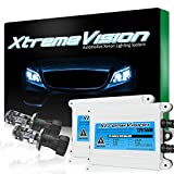 XtremeVision AC 55W HID Xenon Conversion Kit with Premium Slim Ballast - Bi-Xenon H4 / 9003 5000K - Bright White - 2 Year Warranty