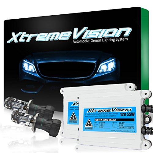 XtremeVision AC 55W HID Xenon Conversion Kit with Premium Slim Ballast - Bi-Xenon H4 / 9003 6000K - Light Blue - 2 Year Warranty