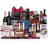 Lote de navidad con embutidos variados, botella de ginebra, cava, sidra y vinos