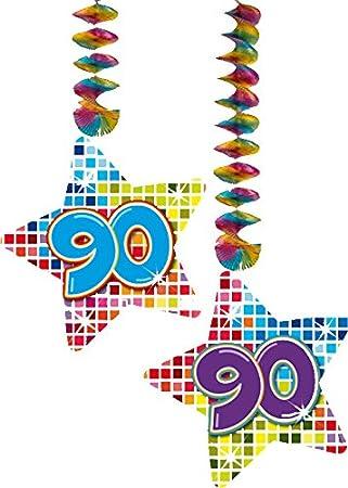 2 x Techos Decoración * 90 cumpleaños * Cumpleaños para ...