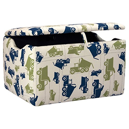 Kidz World Toy Trucks Felix / Natural Upholstered Storage Box by Kidz World