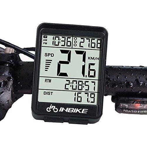 Freelance Shop スポーツ INBIKE IN321 自転車 コンピューター 防水 ワイヤレス LCD オドメーター 自転車 スピードメーター バックライト   B07MH61T15