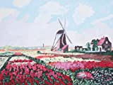 "Claude Monet TULIP FIELDS WITH WINDMILL Paint by Number Kit 11"" x 14"" """