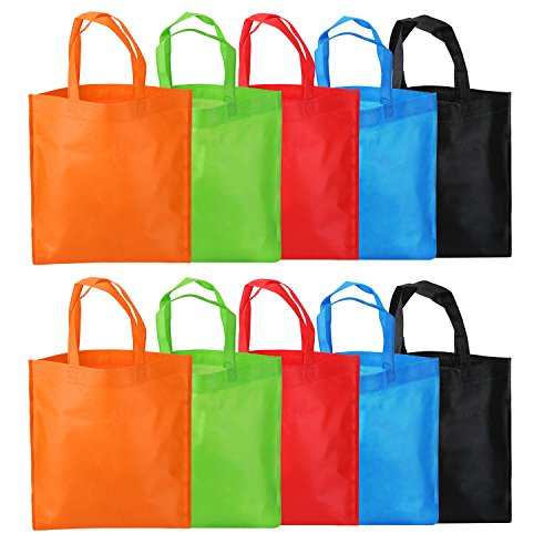 eBoot 10 Pack Storage Handbag Grocery Tote Shopping Bag