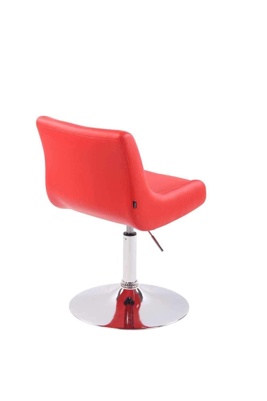 CLP Fauteuil Lounge Club Rembourr/é Rev/êtement Similicuir I Chaise Lounge Confortable Pivotante Hauteur R/églable Coussin de Si/ège Dossier Haut I Couleur Orange