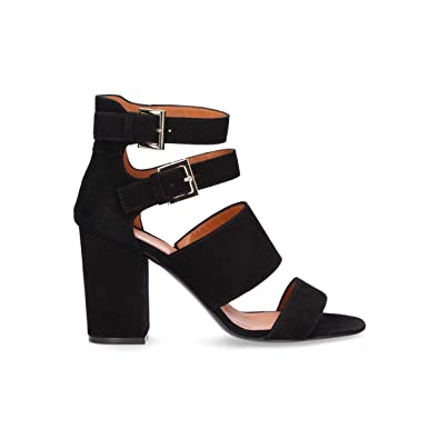 1a386f71f8908 Image Unavailable. Image not available for. Color  Via Roma 15 Women s 2724  Black Suede Sandals