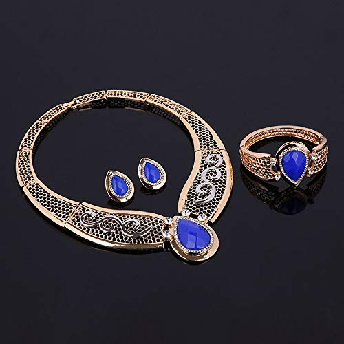 1 piece 2017 fashion Women Wedding Party Rhinestone Necklace Set Styling Accessory Europe Gorgeous Wonderful gift x# ()