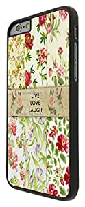 "Vintage Shabby Chic Cute Floral Live Laugh Love Roses 81 Iphone 6 4.7"" Design Fashion Trend Cool Case Back Cover Plastic/Metal"