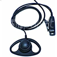 D Shape Earpiece for Vertex Standard VX-231 VX-261 VX-351 VX-451 eVerge EVX-531 Radios Pulsat EH20 Series