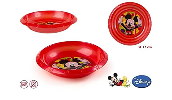 DISOK - Cuenco PVC Mickey - Cuencos Platos PVC Plástico para ...