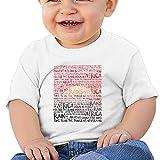 Quxueyuannan Africa - Toto Washed Cotton Baby Boy Shirt Cute Summer T Shirt Funny