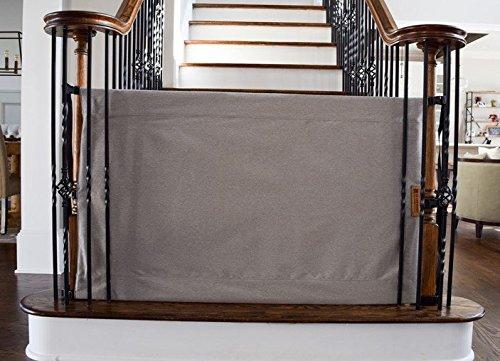 Stair Barrier Banister To Banister Basic Gate Grey