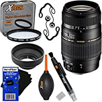 Tamron Auto Focus 70-300mm f/4.0-5.6 Di LD Macro Zoom Lens for Canon Digital SLR Cameras (International Version) + 7pc Bundle Accessory Kit w/ HeroFiber Ultra Gentle Cleaning Cloth