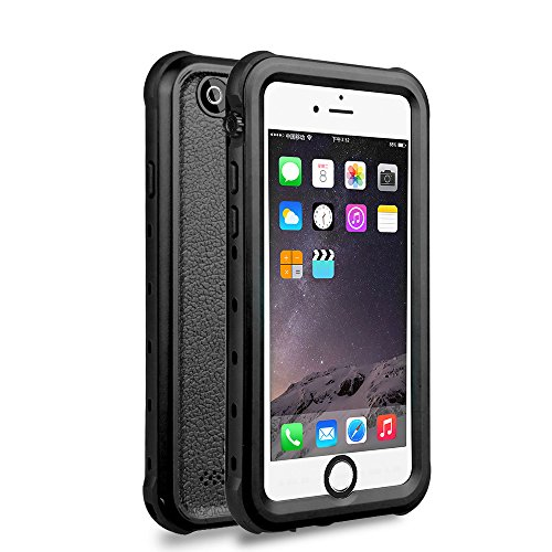 iPhone 6/6s Waterproof Case, Underwater Full Sealed Cover Snowproof Shockproof Dirtproof IP68 Certified Waterproof Case for iPhone 6/6s 4.7 inch (BLACK)