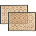 Amazon Basics Silicone, Non-Stick, Food Safe Baking Mat 3 2 non-stick silicone baking mats for easy and convenient baking No need for oil, cooking sprays, or parchment paper Oven-safe up to 480 degrees F
