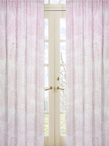 Sweet Jojo Designs 2-Piece Pink French Toile Window Treatment Panels