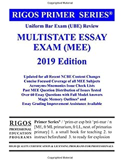 Romeo And Juliet English Essay Rigos Primer Series Uniform Bar Exam Ube Review Multistate Essay Exam  Mee Science Essays also English Essay Internet Scoring High On Bar Exam Essays Indepth Strategies And Essay  How To Write A Thesis Statement For An Essay