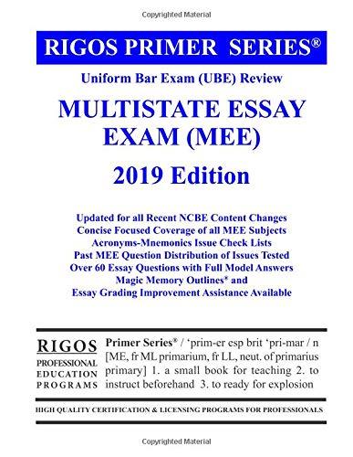 Pdf Law Rigos Primer Series Uniform Bar Exam (Ube) Review Multistate Essay Exam (Mee) 2018 (Volume 3)