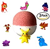 3 PACK - XL Pokemon Pokeball Surprise Bath Bomb! Pick Your Scent.