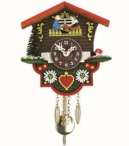 Reloj en miniatura de la selva negra casa suiza TU 26 PW