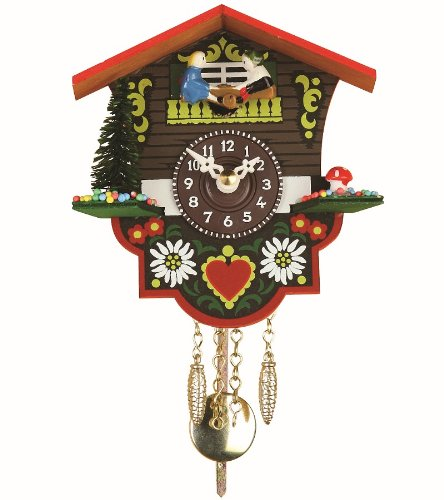 ISDD Cuckoo Clocks Black Forest Clock Swiss House TU 26 PW