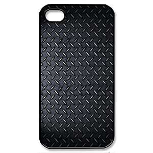 Checkerplate Metal Shockproof Dirtproof Snowproof Protection Case Cover for Apple iPhone 5s (Black 102137)