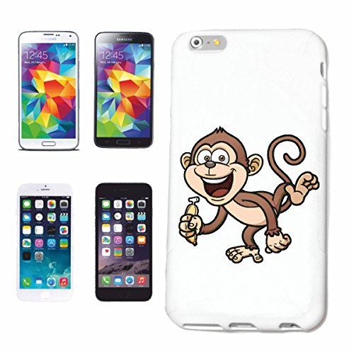 caja del teléfono Huawei P9 PEQUEÑO MONO CON mono del plátano Chimpancé del GORILA posterior de la plata APE CHARLY MONKEY KING KONG Caso duro de la cubierta Teléfono Cubiertas cubierta para el Appl