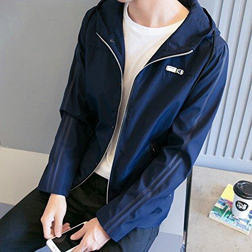 L de chaqueta la juventud hombres otoño moda versión los coreana otoño de la hombre del Chaqueta el abrigo oscuro La estudiantes de de azul de fino serie en chaqueta cZ0fPwqxF