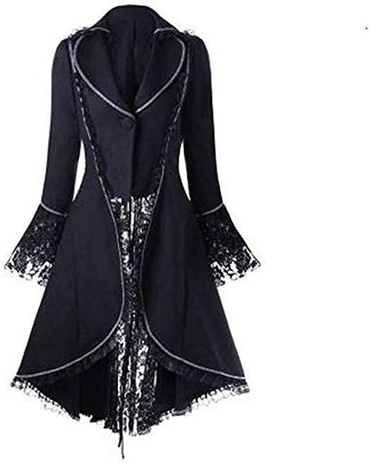 Damen Jacke Punk Langarm Gothic Retro Mantel Uniform Langarm Jacke