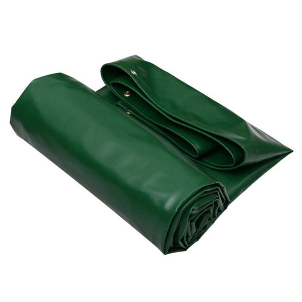 木綿の布 緑 PVC防雨布 日を遮る布 油布 自動車トラック キャンバス 断熱 寒さに抗する 耐摩耗 抗老化防止,400 * 400Cm B07FT8CBMZ 400*400cm  400*400cm